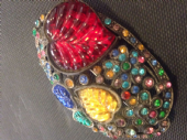 Vintage Jewelled Brooch circa 1930s to 1940s (SOLD)